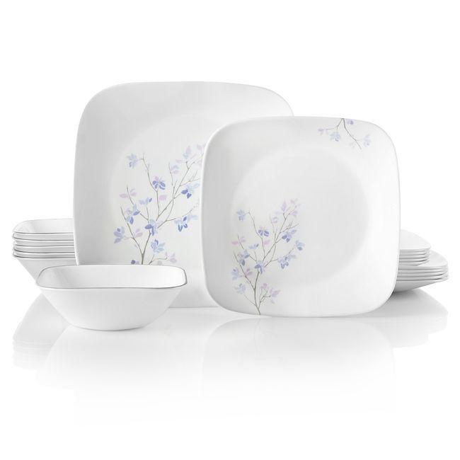 Square Jacaranda 18-piece Dinnerware Set, Service for 6