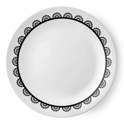 "Livingware™ Lace 8.5"" Plate  Black  &  White"