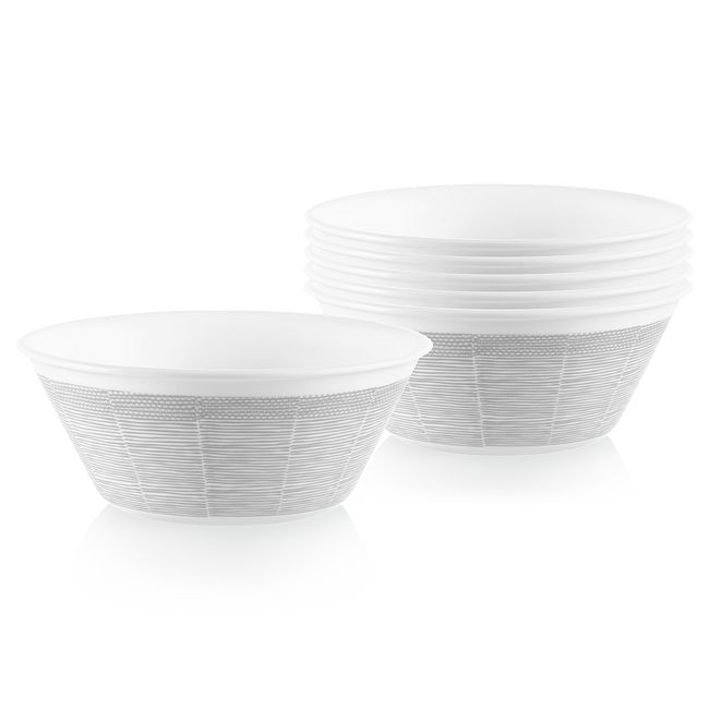 Woven Lines 21.5-ounces Medium Bowls, 6-pack