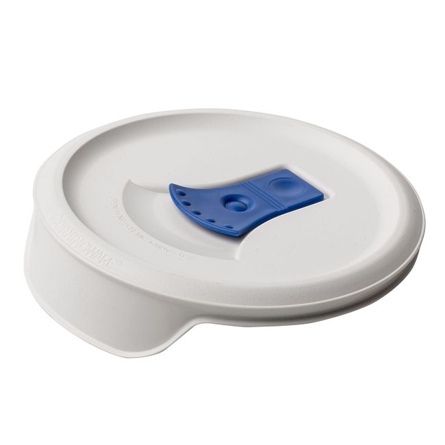French White 16-ounce Vented Casserole Lid