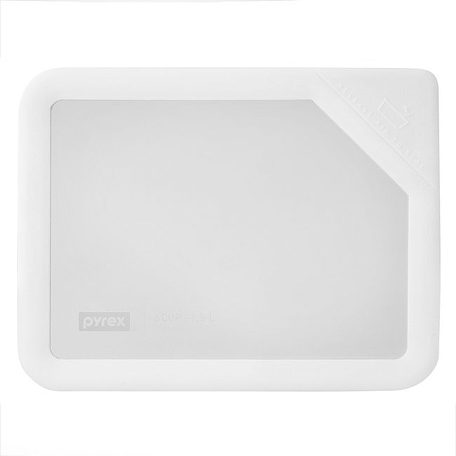 Ultimate 6 Cup Rectangle Glass Storage Lid, White