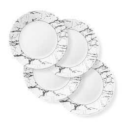 "Stone Grey 11"" Dinner Plates, 4-pack"
