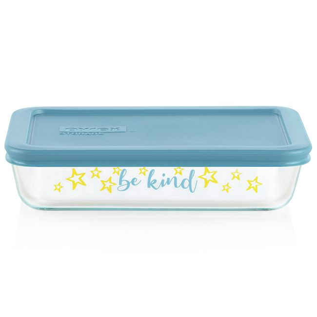 Sentiments Be Kind 3-cup Glass Food Storage Container (Lid Sold Separately)