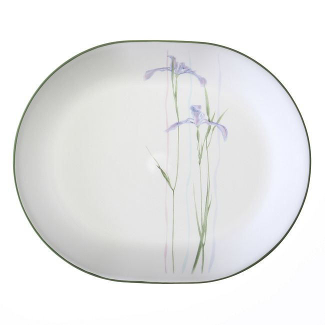 "Corelle Shadow Iris 12.25"" Serving Platter"