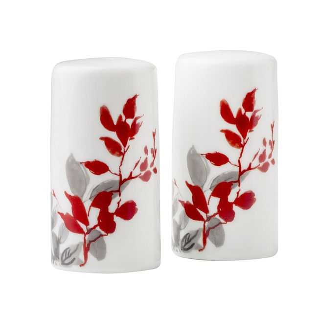 Salt & Pepper Set Coordinates w/ Corelle Kyoto Leaves