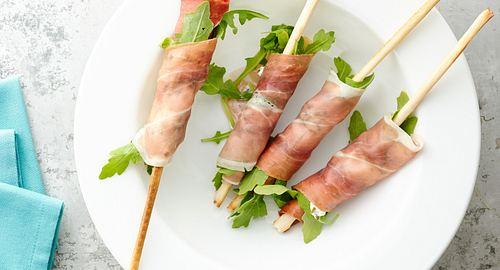 Arugula-Prosciutto Breadsticks