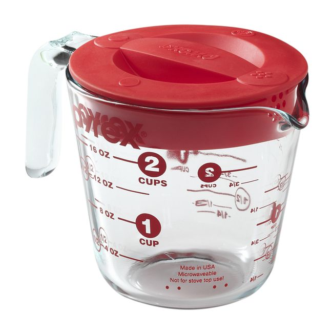 2-cup Measuring Cup with Red Lid