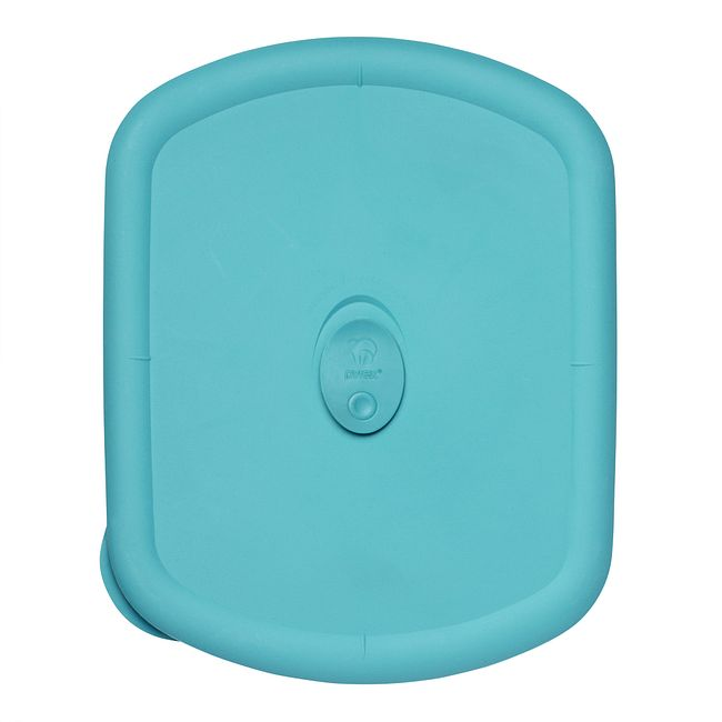 Turquoise Vented Lid for 3-quart Rectangular Food Storage Container