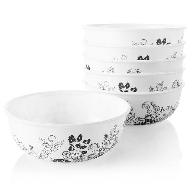 Uptown Garden 16-ounce Small Soup Bowls, 6-pack