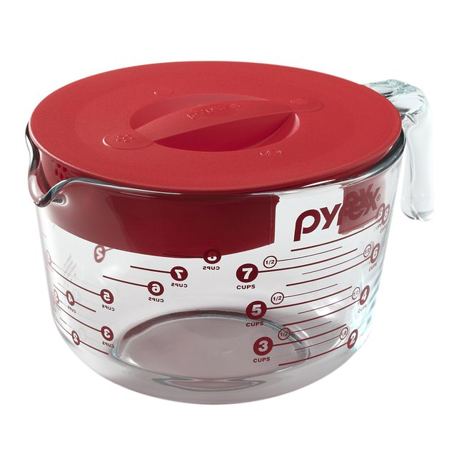 8-cup Measuring Cup with Red Lid