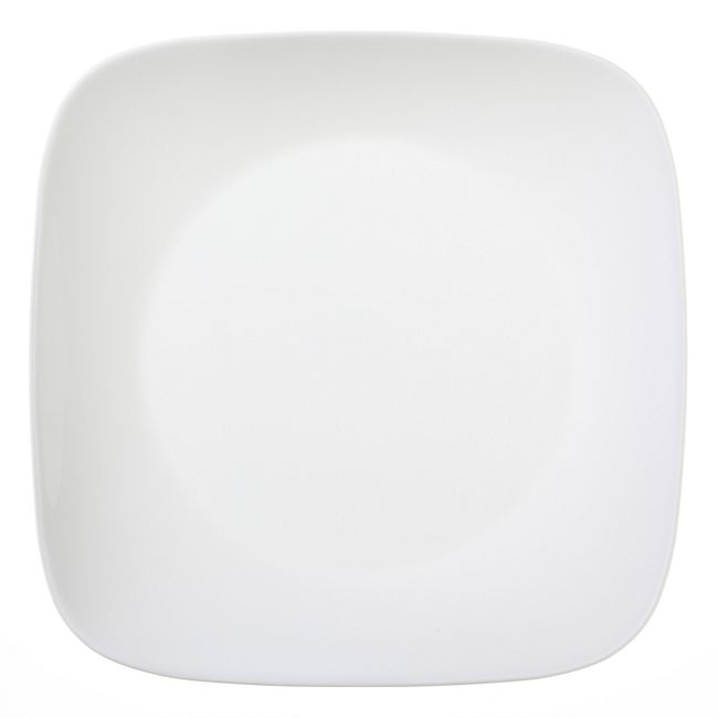 "Square Pure White 10.5"" Plate"