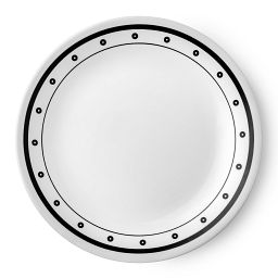 "Livingware™ Beads 10.25"" Plate  Black  &  White"