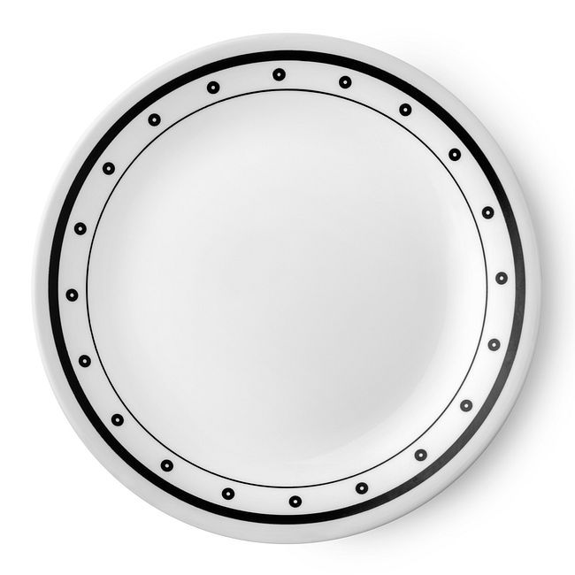 "Livingware Beads 8.5"" Plate, Black & White"