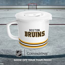 """NHL Boston Bruins 20-oz Meal Mug Blades™ with Lid withj text """"show off your team pride"""""""