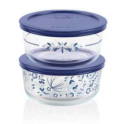 Simply Store 4-pc 4 Prairie Garden Round Storage Set