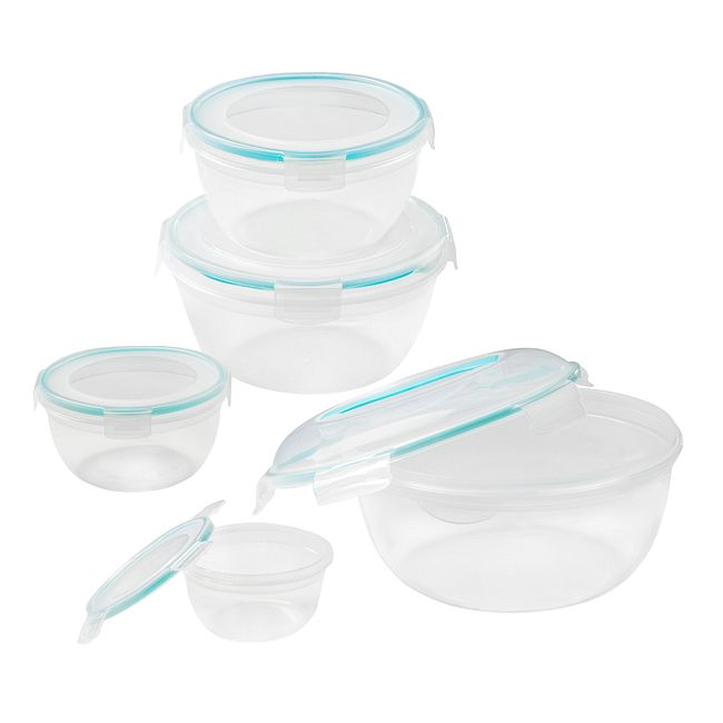 Airtight 10 Piece Plastic Food Storage Container Set