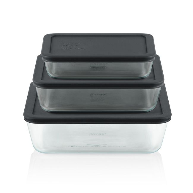 Simply Store 6-pc Rectangle Set w/ Gray Lids