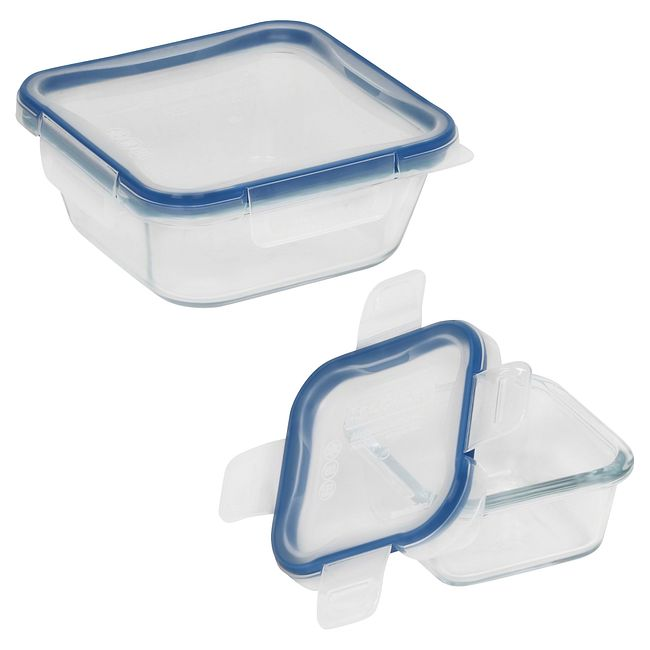 Total Solution Pyrex Glass 4-pc Square Food Storage Set