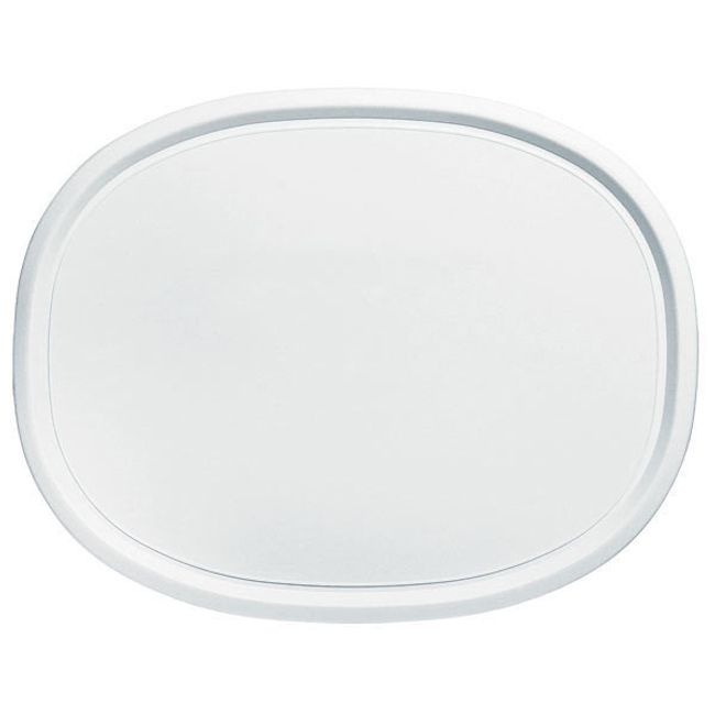 French White Oval Plastic Lid for 2.5-quart Baking Dish