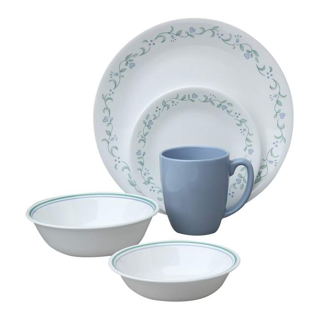 Country Cottage 30-piece Dinnerware Set, Service for 6