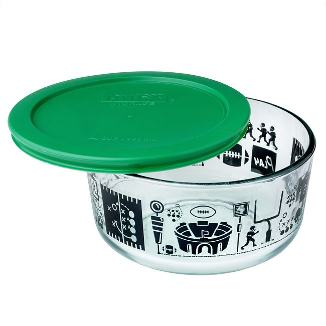 Simply Store 4 Cup Football Fanatic Storage Dish w/ Green Lid