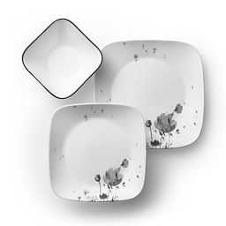 Square Fleurs Du Soir 18-pc Dinnerware Set Top View