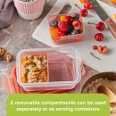 Meal Prep Divided: 2-cup Rectangle Storage Container, 2-Section