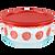4 Cup Bloom Crimson Storage Dish w/ Red Lid On
