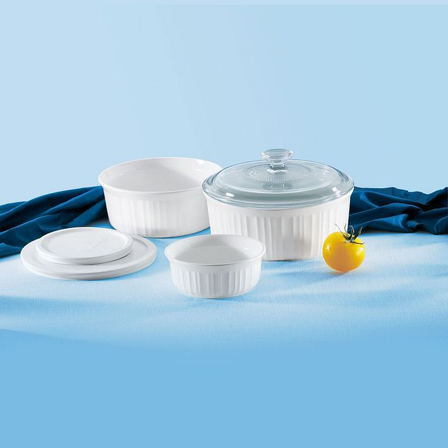 French White 6-piece Bakeware Set