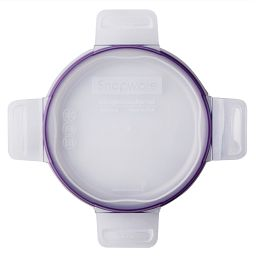 Total Solutions™ Round Medium Plastic Lid w/ Purple Seal