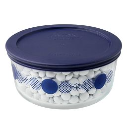 4 Cup Navy Rings of Neptune Storage Dish w/ Candies