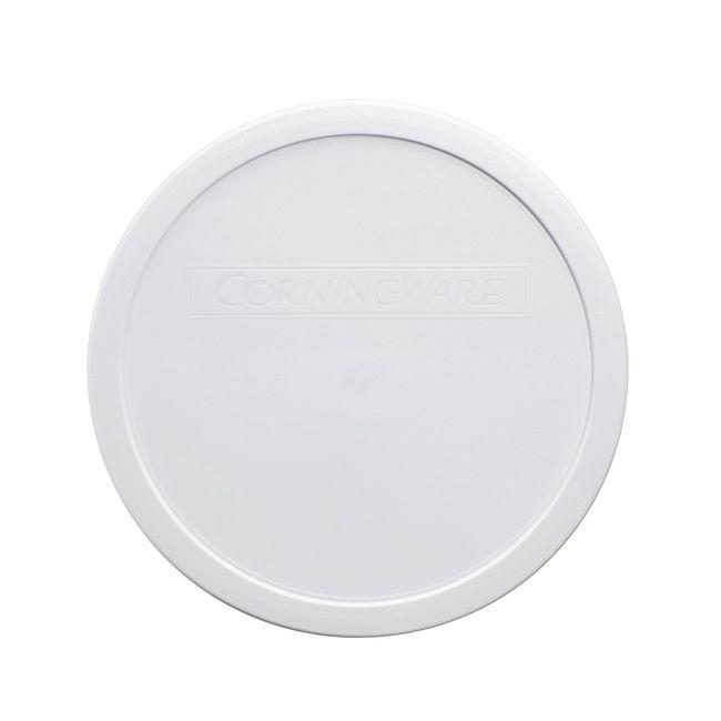 French White 2.5-qt Round Plastic Lid