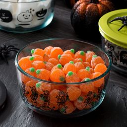 4-cup Mariachi Band Storage Dish with Pumpkin Candies