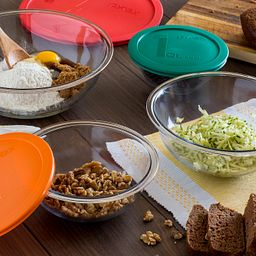 Smart Essentials 8-pc Mixing Bowl Set with Ingredients in Bowls