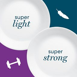 white plates with benefits super light and super strong