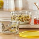 4-cup Decorated Round Glass Storage: Winnie-the-Pooh™ 95th Anniversary Collector's Edition