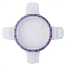 Total Solutions™ Round Small Plastic Lid w/ Purple Seal