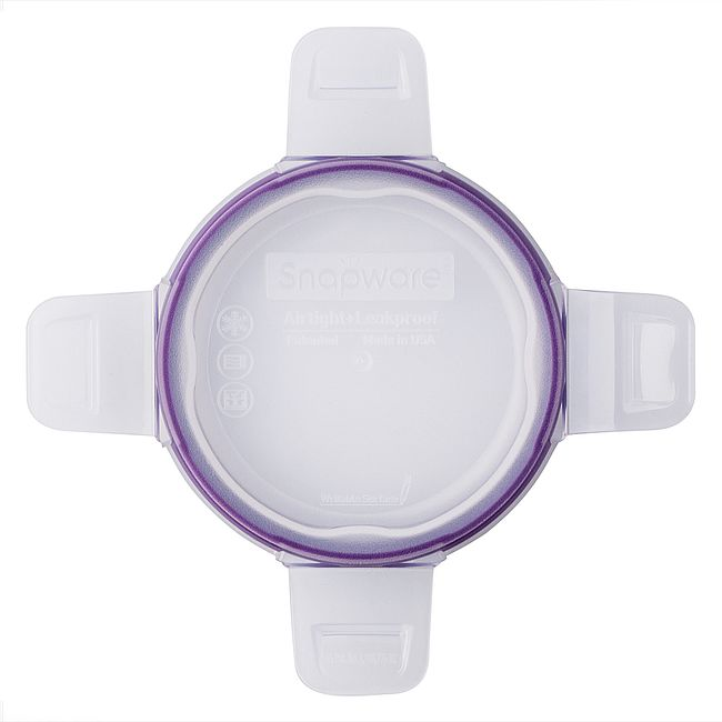 Total Solutions Round Small Plastic Lid w/ Purple Seal