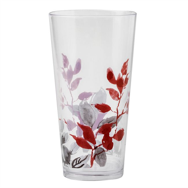 Kyoto Leaves 19-ounce Acrylic Drinking Glass