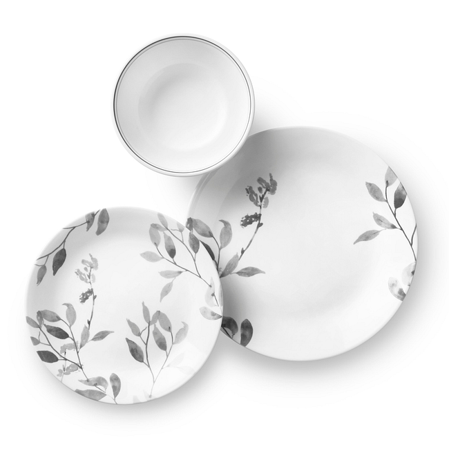 Misty Leaves 12-piece Dinnerware Set, Service for 4