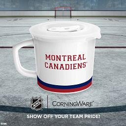 """HL® Montreal Canadiens® 20-oz Meal Mug™, Youppi!® with text """"show off your team pride"""""""