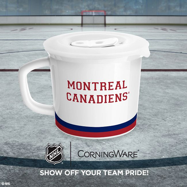 NHL® Montreal Canadiens® 20-ounce Meal Mug™, Youppi!® with Lid