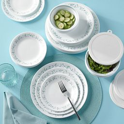Country Cottage 66-piece Dinnerware Set on the table