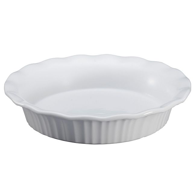 "French White 9"" Pie Plate"