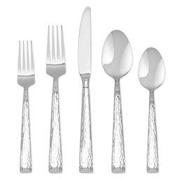 Hampton Signature Brocade Hammered 20-piece Flatware Set