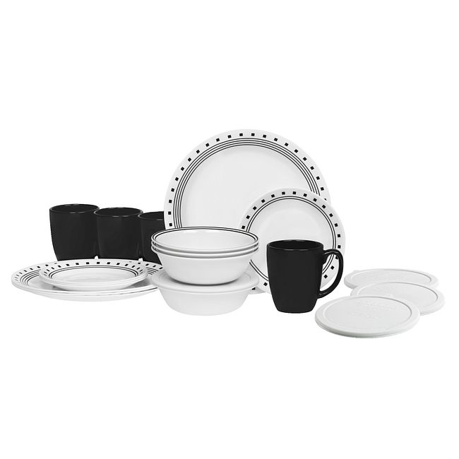 City Block 20-pc Dinnerware Set with Lids, Service for 5