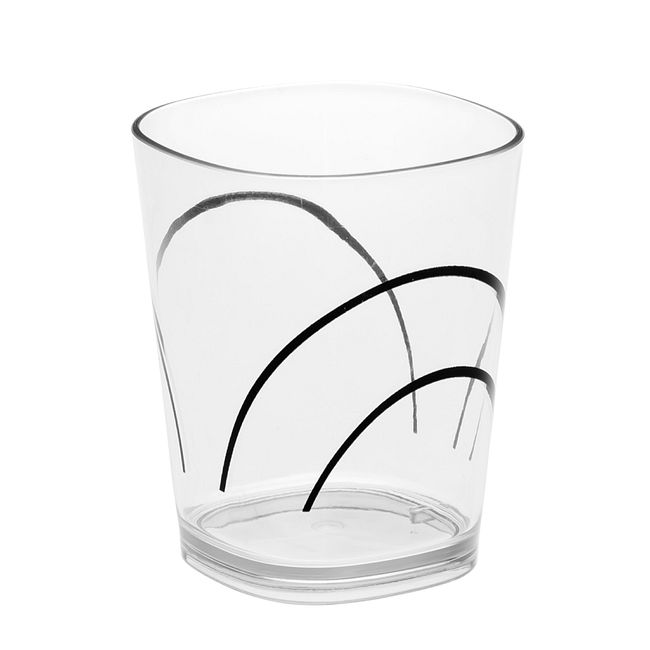 Simple Lines 14-ounce Acrylic Drinking Glass