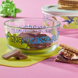 Snackasaurus 2-cup Glass Food Storage Container on the table