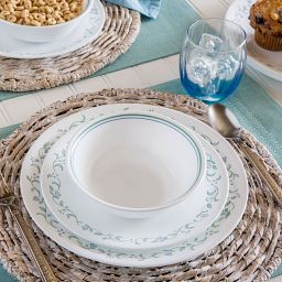 Country Cottage 12-pc Dinnerware Set on the table