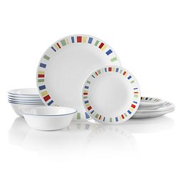 Memphis 18-pc Dinnerware Set Front View